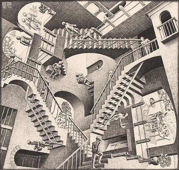 Relativity. M.C, Escher 1953