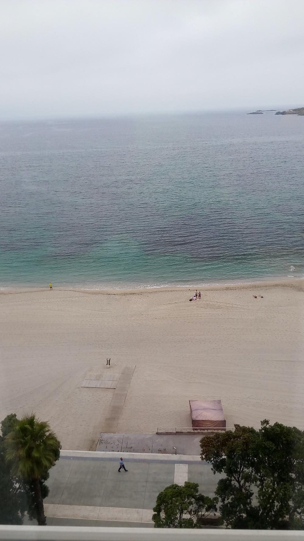 Riazor a vista de gaviota, desde la planta novena del hotel Riazor