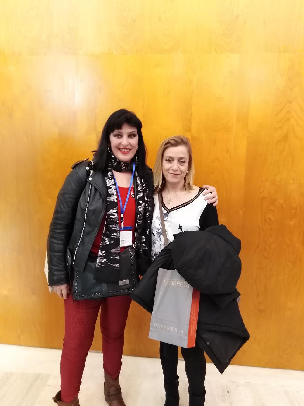 Con mi querida editora, Esther Escoriza