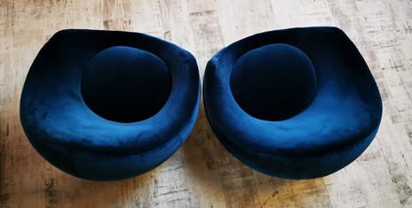 Fauteuils design bleu