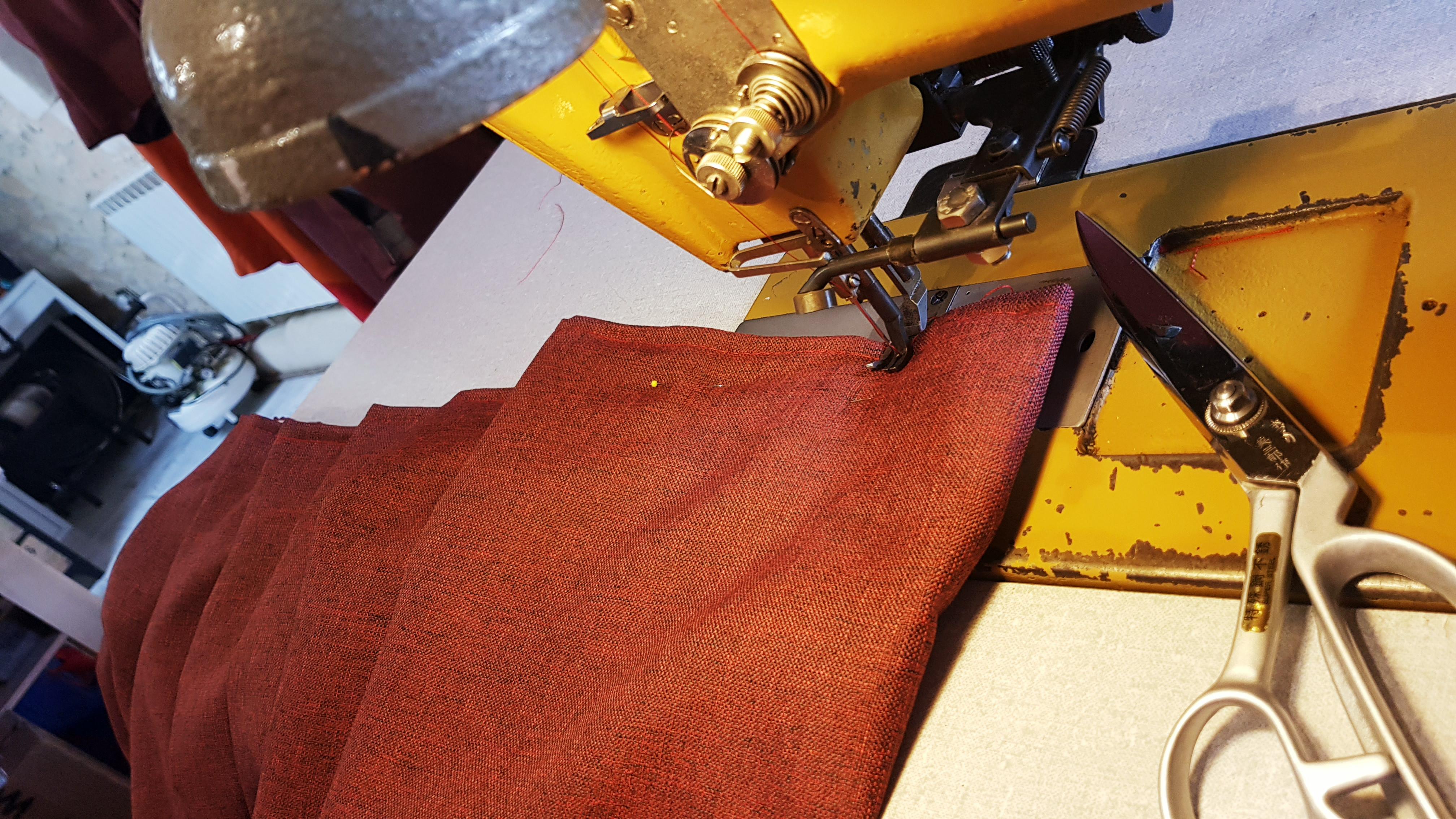 Détail fabrication rideau