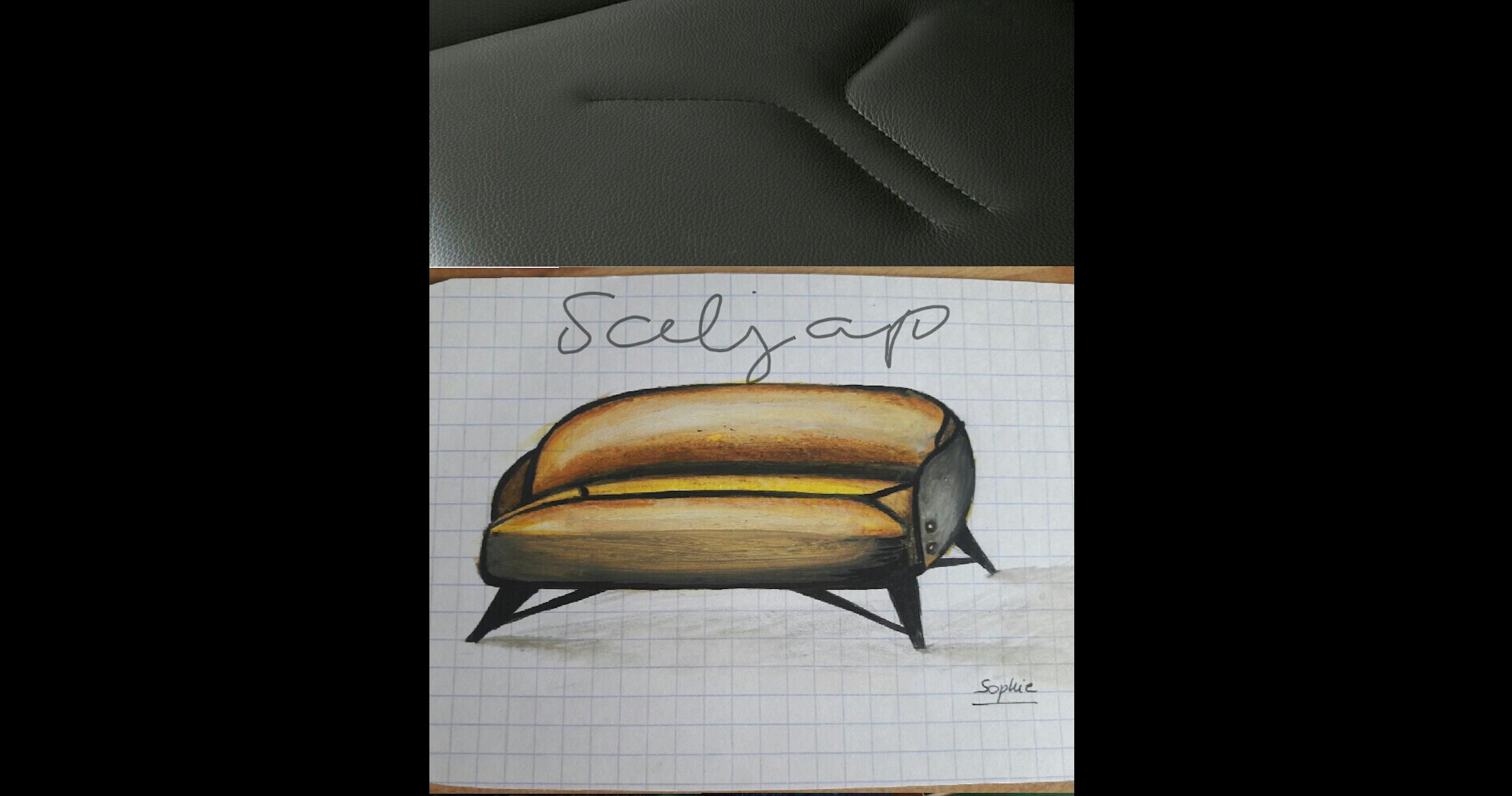 Croquis petit canapé