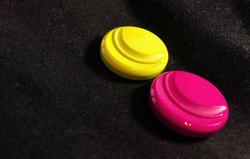 Button harden casein
