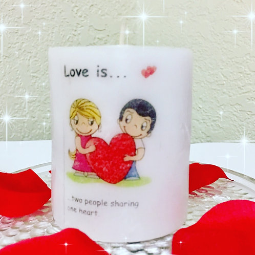 Love is? Valentine's Day Candles