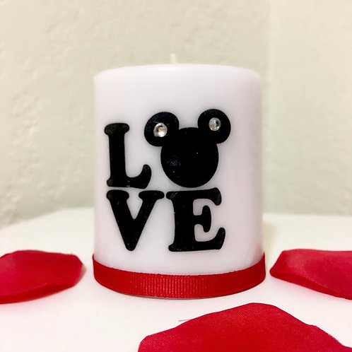 Mickey LOVE Candle