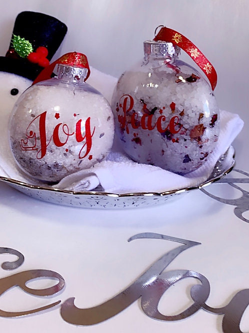Bath Salts Christmas Ornaments