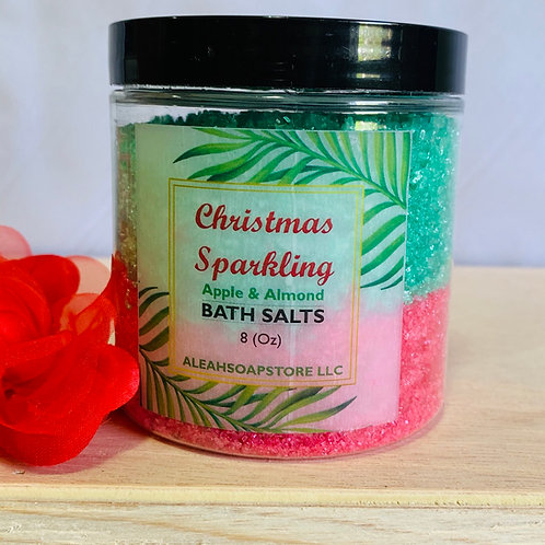 Christmas Sparkling Bath Salts 8oz