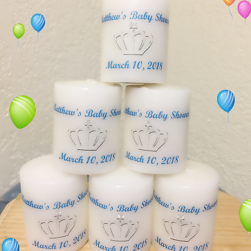 Prince Votive Candles Baby Shower