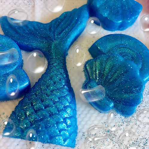 10 Mermaid tails Soaps Party Favors