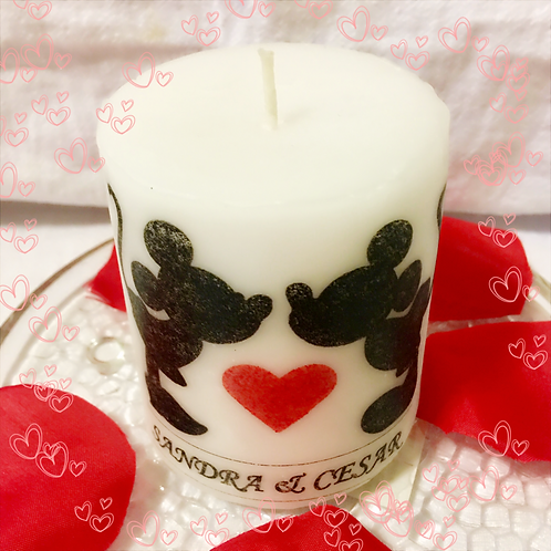 Valentines Days Mickey and Minnie Candle