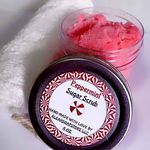 Peppermint Sugar Scrub 4oz