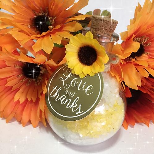 Bath Salts Jar/ Wedding Favors