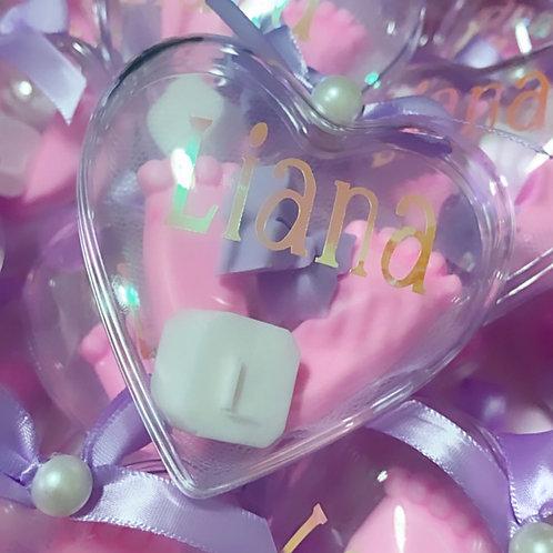 Baby Shower Mini Soaps Acrylic Heart
