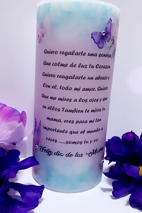 "3x6"" Mother's Day Poem Candle"