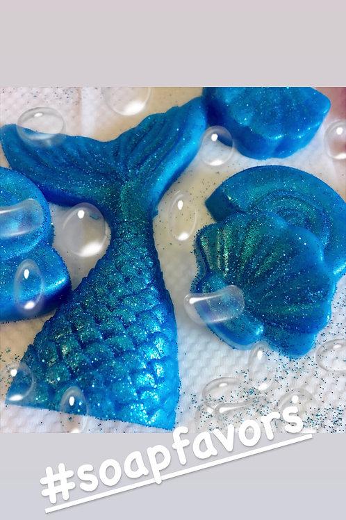 Mermaid tail Soaps Set of 3