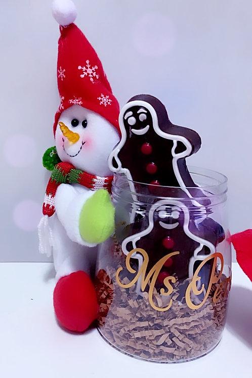 Gingerbread Jar Teacher Gift
