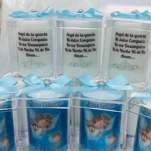Votive Baptims Candels/Acrylic Box