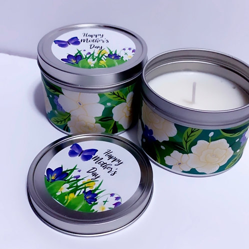 Mother's Day Tin Candle