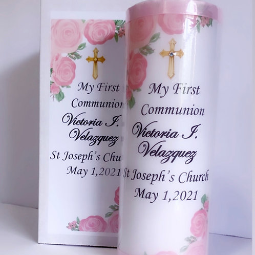 """First Holy Communion Candle 9"""""""