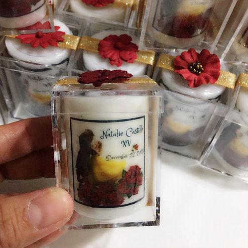 Votive Candles/ Beauty and the Beast Favors