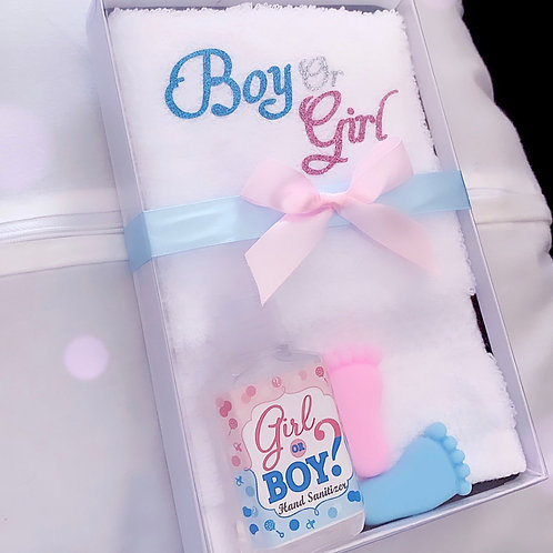 Gender reveal gift set