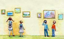 Ребенок и музей.