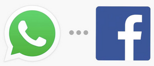 Whatsapp and Facebook logos