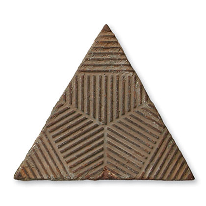 Reclaimed Cast Iron Triangle Tile