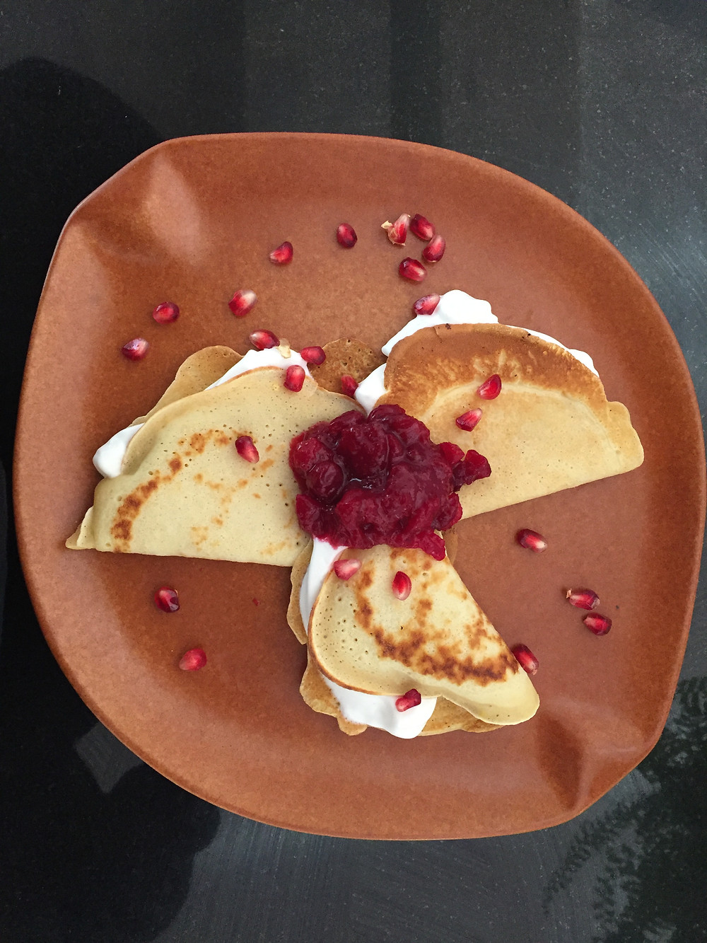 cranberry crepes
