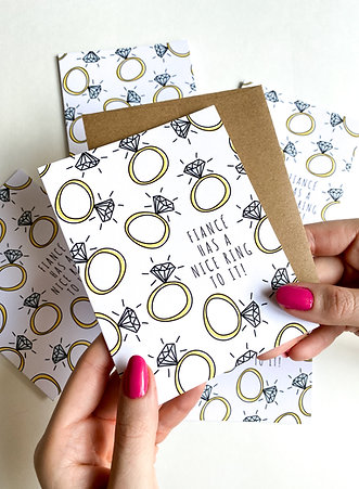Nice Ring to it Engagement Card, Funny Ring Card, Soon to be Bride Card