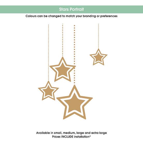 Stars Portrait Christmas Sticker
