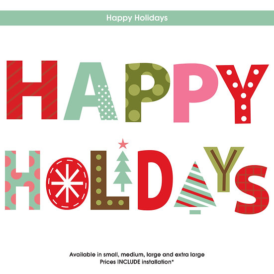 Happy Holidays Christmas Sticker