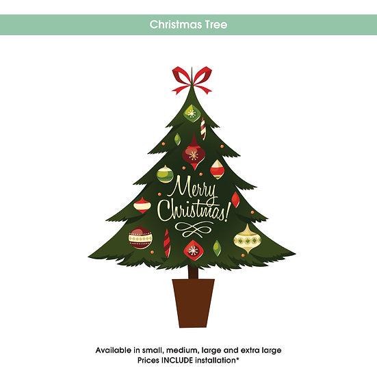 Christmas Tree Christmas Sticker