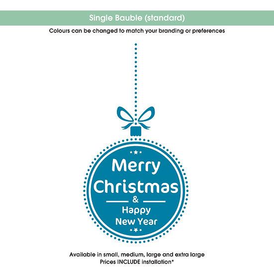 Single Bauble Christmas Sticker