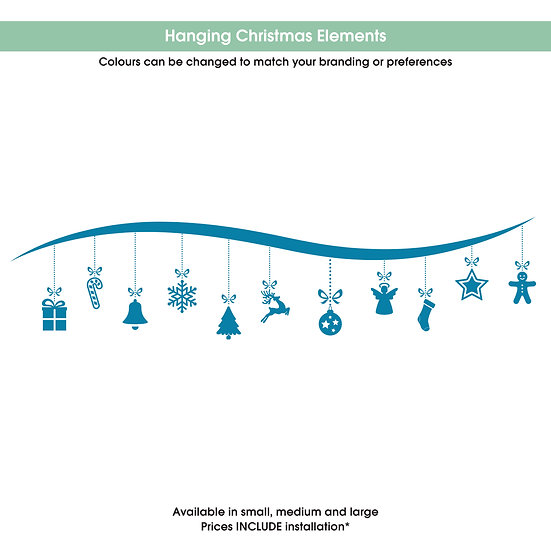 Hanging Christmas Elements Christmas Sticker