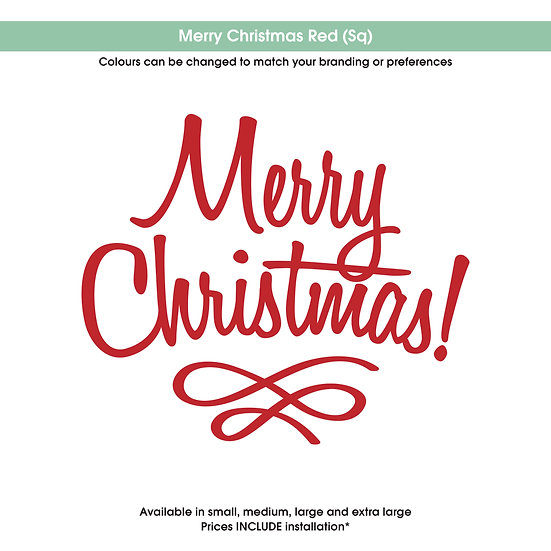 Merry Christmas Red Christmas Sticker