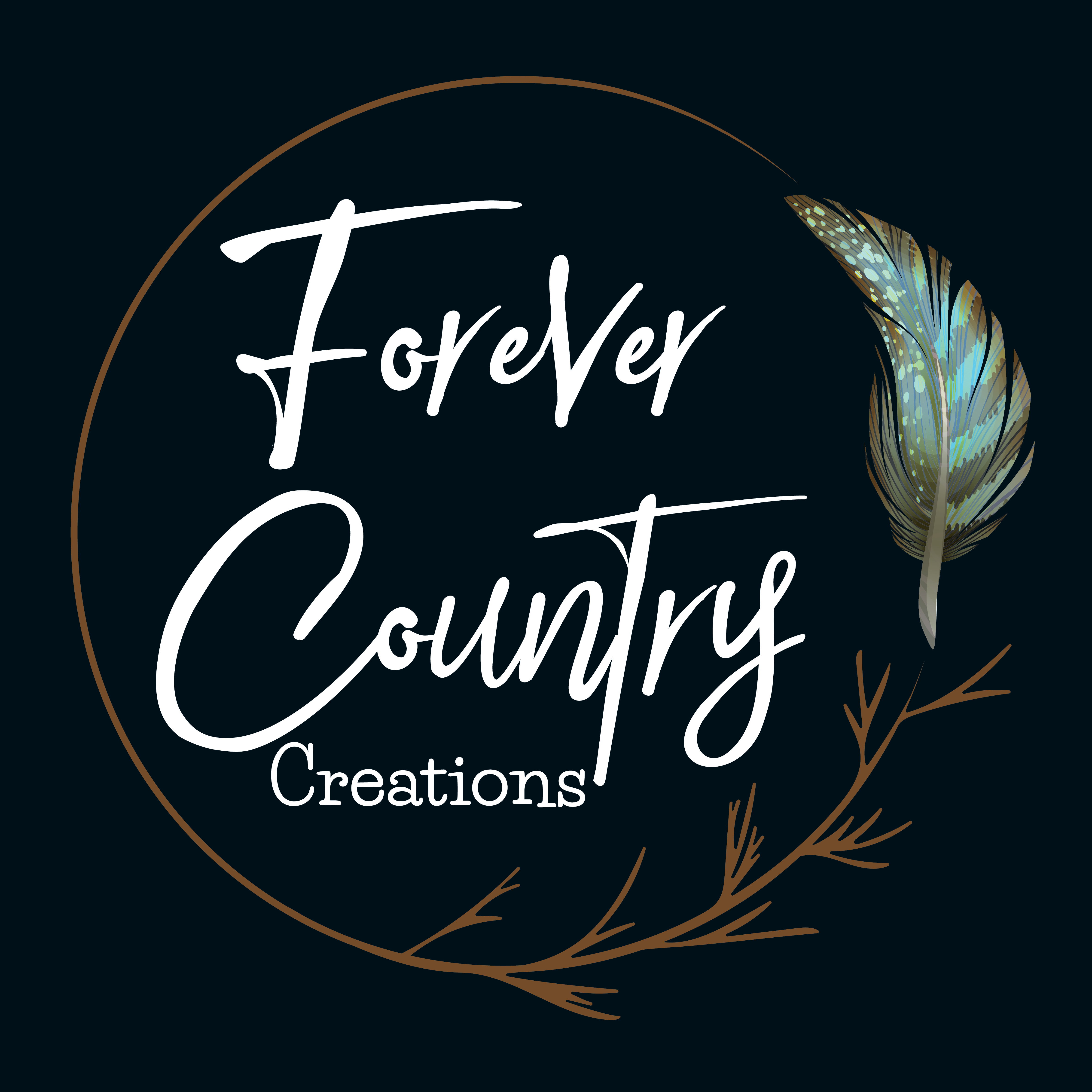 Forever Country Creations Logo - JPEG (Black with White writing)-02