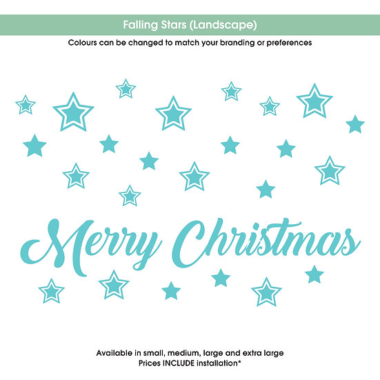 Falling Stars (landscape) Christmas Sticker