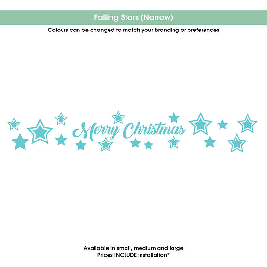 Falling Stars (narrow) Christmas Sticker
