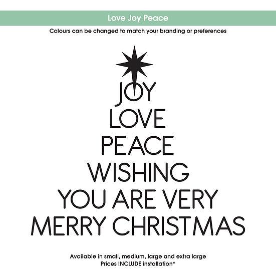 Love Joy Peace Christmas Sticker