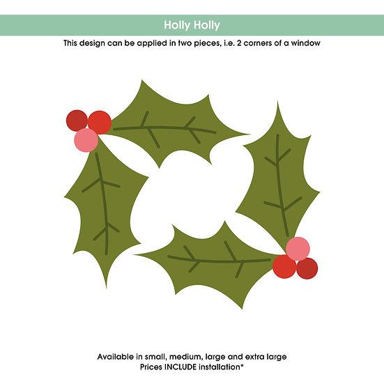 Holly Holly Christmas Sticker