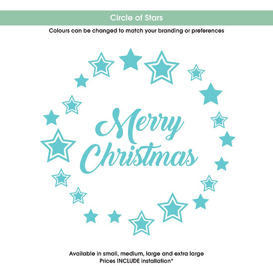 Circle of Stars Christmas Sticker