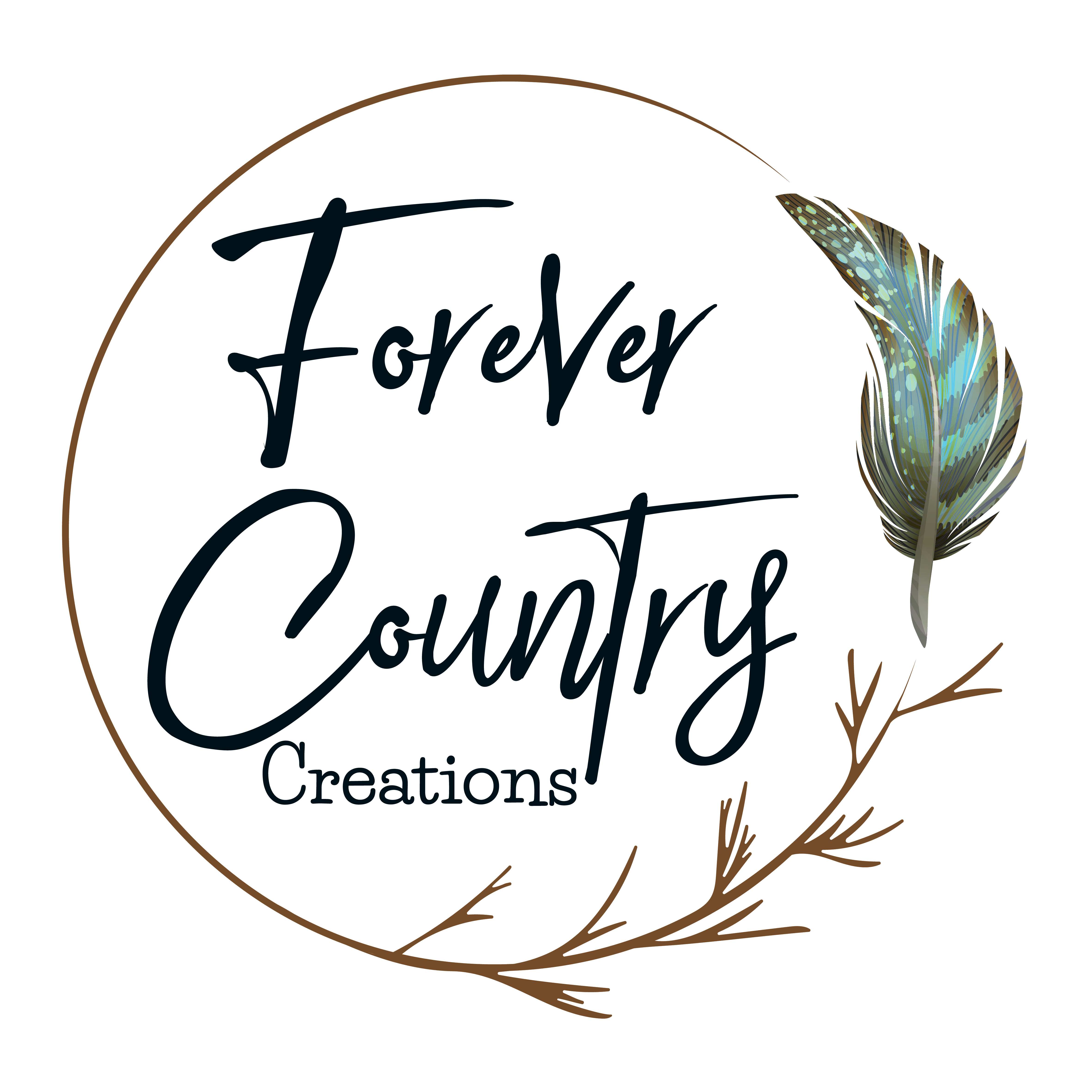 Forever Country Creations Logo - JPEG (White Background with Black writing)-01