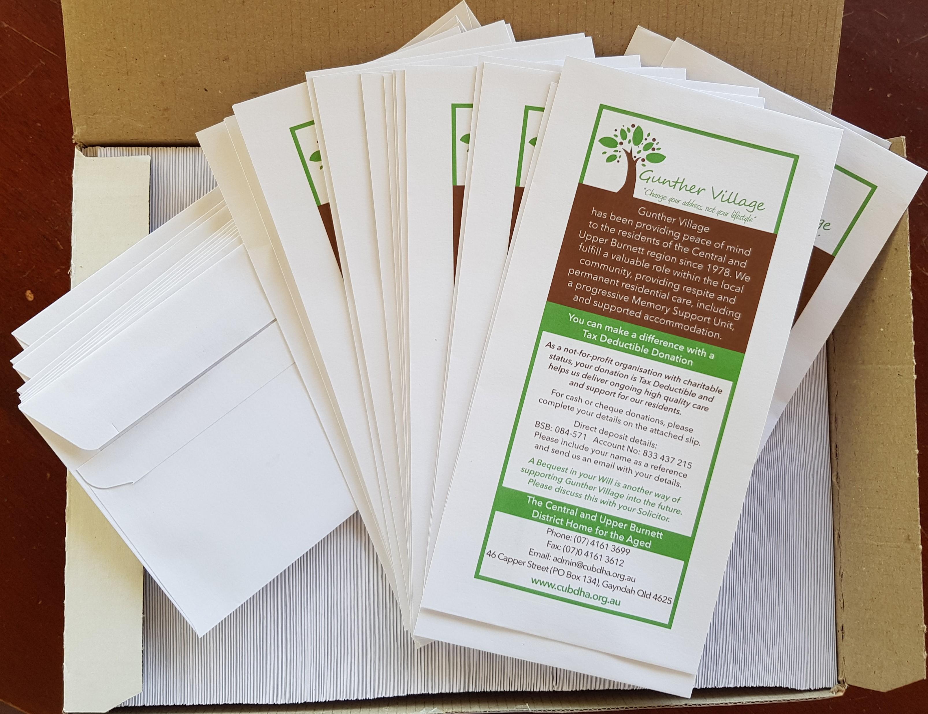 envelopes finished product