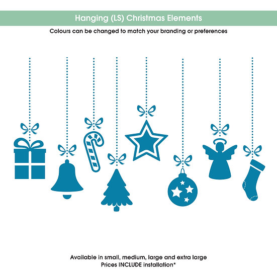 Hanging (LS) Christmas Elements Christmas Sticker
