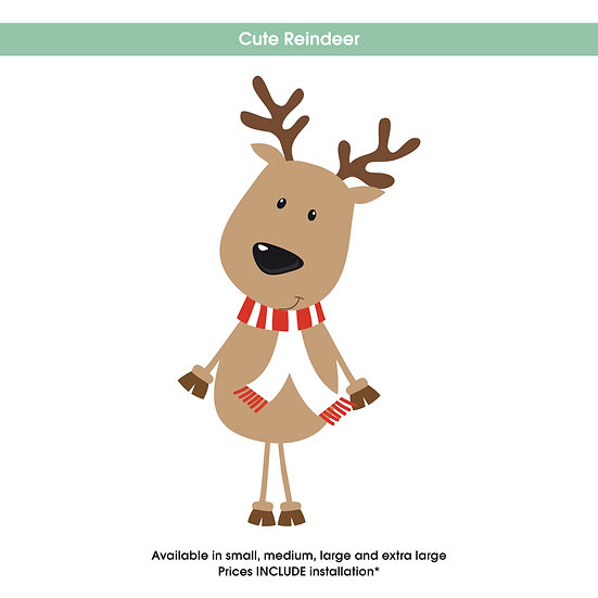 Cute Reindeer Christmas Sticker