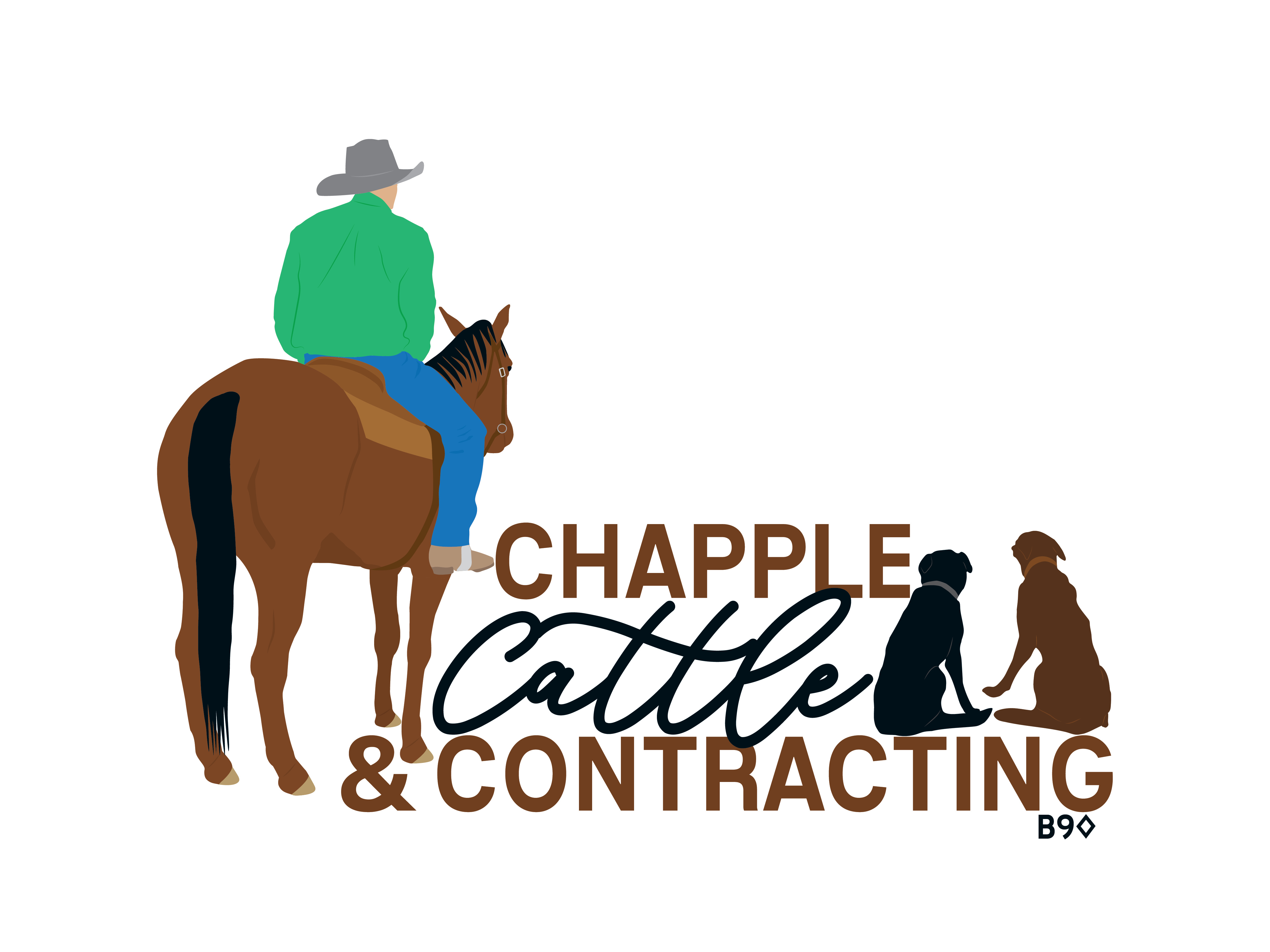 Chapple Cattle & Contracting Logo- Stack