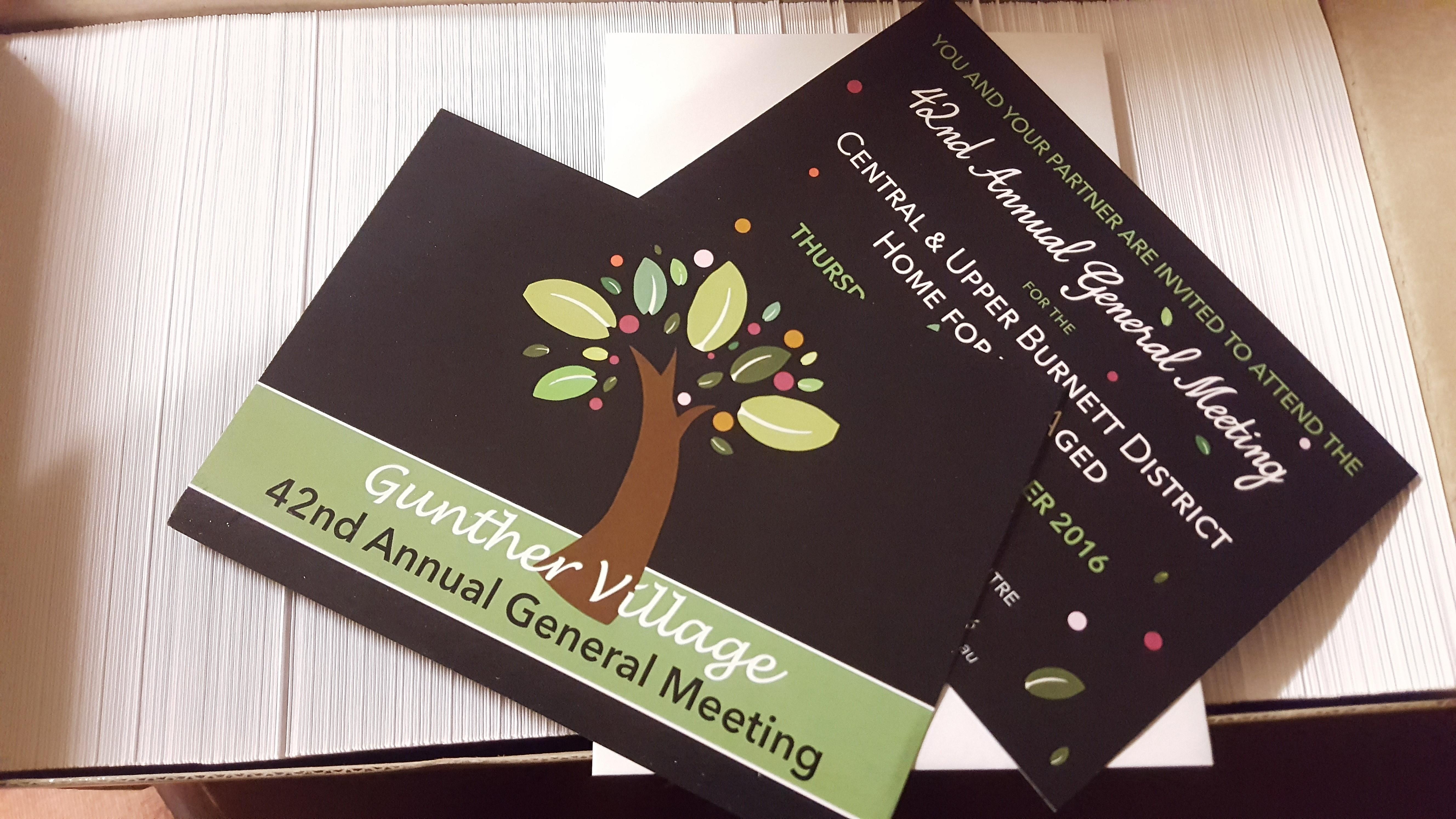 Gunther Village AGM Invites