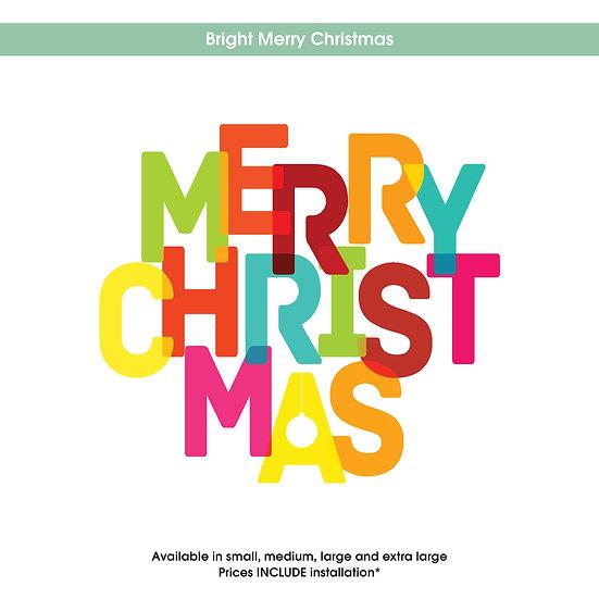 Bright Merry Christmas Christmas Sticker