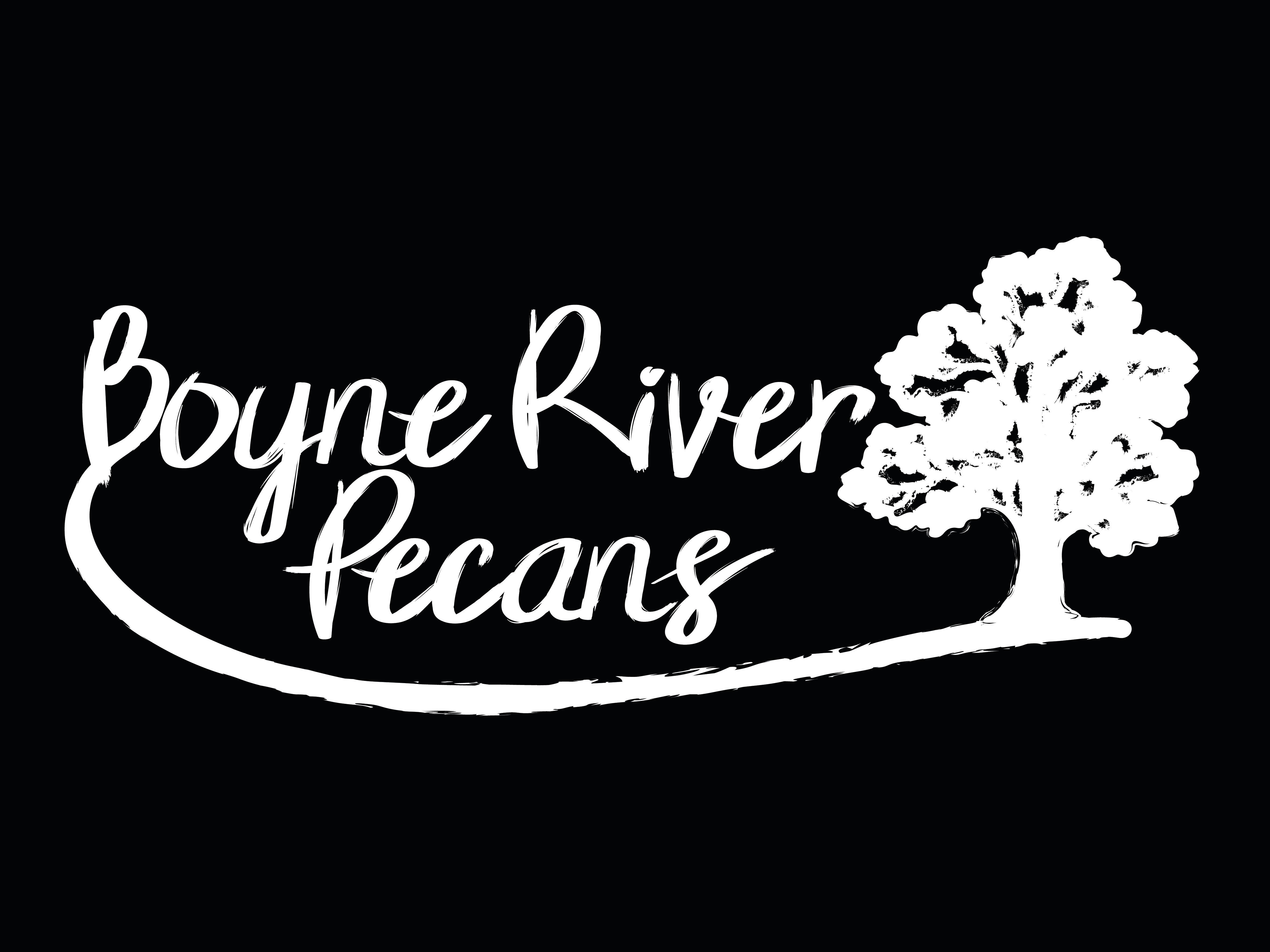 Boyne River Pecans - Standard - Black Background - JPEG format_Logo Standard